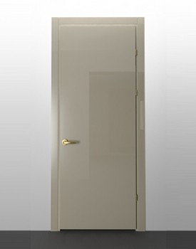 Глянцевая межкомнатная дверь Crema